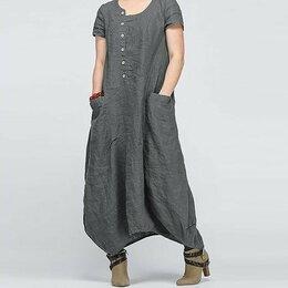 Платья - платье серое р.54-56, 0