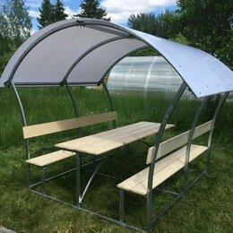Комплекты садовой мебели - Беседки с лавочками и столиком , 0