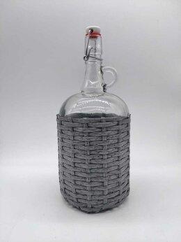 Бутылки - Бутыль стеклянная Gallone, в оплетке из ротанга,…, 0