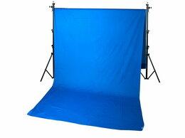 Фоны - Фон тканевый B-105 (300х500см) синий хромакей, 0