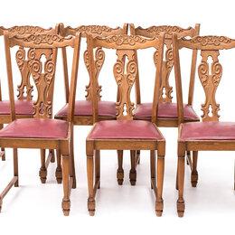 Стулья, табуретки - Стулья с декоративными спинками в деревенском стиле, 6 шт., 0