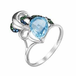 Кольца и перстни - Серебряное кольцо с аметистом и фианитами, 0