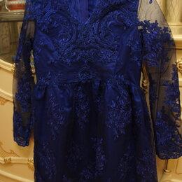 Платья и сарафаны - Платье синее кружевное для праздника размер 42-44, 0