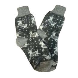 Носки - Носки шерстяные двойной вязки - Олени в ночи, 0