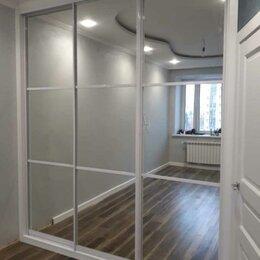Шкафы, стенки, гарнитуры - Двери-купе. Зеркало. Белый глянец, 0