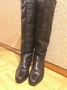 Сапоги - Сапоги ботфорты зимние натуральный мех коричневые, 0