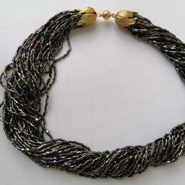 Колье и бусы - Ожерелье из чешского бисера-рубки., 0