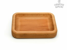 Тарелки - Тарелка деревянная прямоугольная из бука, 0