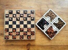 Подарочные наборы - торцевая шахматная доска с менажницей-пазлами, 0
