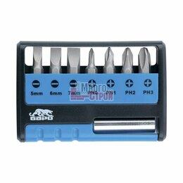 Аккумуляторы и зарядные устройства - Набор бит с магнитным держателем, CrV, 8 шт.…, 0