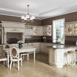 Мебель для кухни - Классическая угловая кухня на заказ. Кухня Империал с фасадами из массива дуба., 0