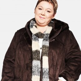Дубленки - Куртка /дубленка с капюшоном от Ulla Popken. Новая, 0