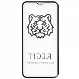 Защитные пленки и стекла - Защитное стекло для iPhone X/XS Tiger 5D (Черный), 0