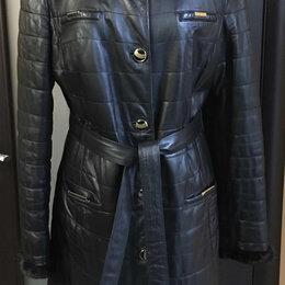 Пальто - Кожаное пальто с мехом норки Vito Ponti , 0
