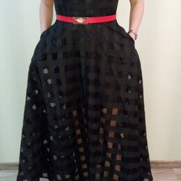 Платья - Платье чёрного цвета в пол р. 48 на рост от 165см, 0