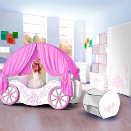 Кроватки - Комплект детской мебели для девочки карета кровать , 0
