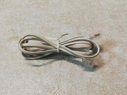 Кабели и разъемы - Кабель телефонный аппарат-розетка 1 м серый, 0