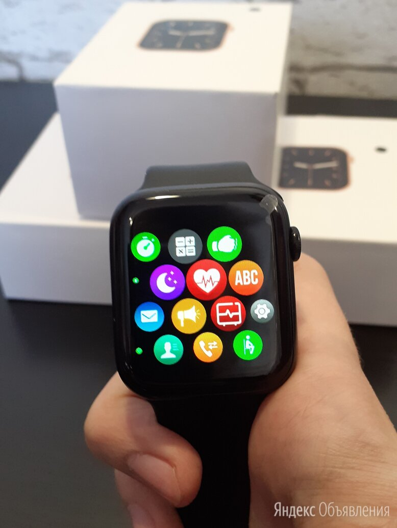Умные часы (Apple Watch 6) по цене 2999₽ - Умные часы и браслеты, фото 0