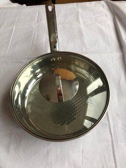 Сковороды и сотейники - Сковорода с крышкой 22 см диаметр, 0