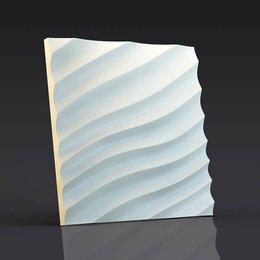 Стеновые панели - Зд панель Волна диагональная мелкая, 0