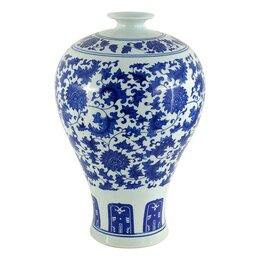 Вазы - Ваза керамическая бело-голубая 35х60 см…, 0