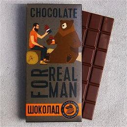 Продукты - Шоколад в открытке с лентой «For real man» 85г, 0