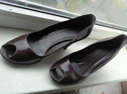 Туфли - Туфли коричневые открытый палец р.40, 0