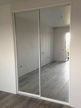 Комплектующие - Алюминиевый профиль  для 2-х дверей шкафов-купе , 0