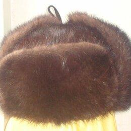 Головные уборы - Норковая  шапка-ушанка, мужская, 0
