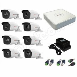 Камеры видеонаблюдения - Комплект видеонаблюдения hiwatch fullhd на 8камер, 0