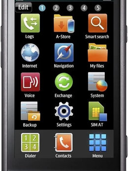 Мобильные телефоны - Samsung S8500 Wave Amoled Black, 0