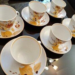 Кружки, блюдца и пары - Набор Чайных Кофейных Пар 6 пар, 0