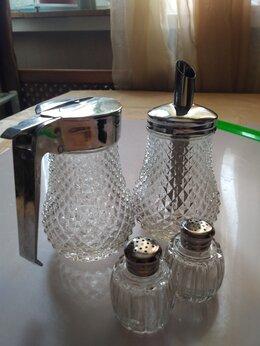 Солонки, перечницы и ёмкости для специй - Сахарница,молочник и две солонки, 0