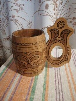 Сувениры - Новая деревянная кружка-бочонок (сувенир), 0
