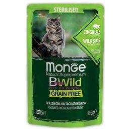Корма  - Monge BWild Cat Sterilised Wild Boar Vegetables…, 0