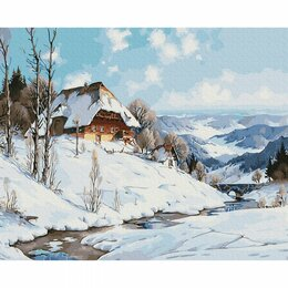 Рукоделие, поделки и товары для них - Картина по номерам Зима в горах (KH0964, 40x50 см), 0