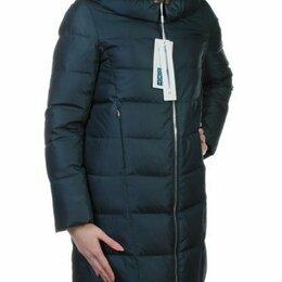 Пуховики - Пальто зимнее с мехом (холлофайбер, натуральный мех енота) размер 50, 0