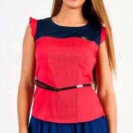 Блузки и кофточки - Красивая женская блузка с защипами, новая 42-50, 0