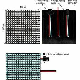 Светодиодные ленты - Светодиодная матрица ws2812b 16х16 пикселей 5v 50w, 256led, 0
