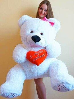 Мягкие игрушки - Плюшевый медведь 140 см с сердцем, 0