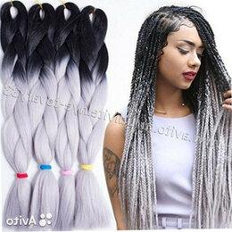Аксессуары для волос - Канекалоны (цветные косы), платиновые, 0