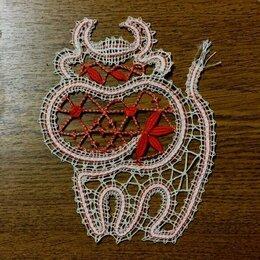Новогодние фигурки и сувениры - Вологодское кружево. Кружевной бычок ( знак зодиака, год быка), 0