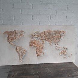 Картины, постеры, гобелены, панно - карта мира на стену, 0