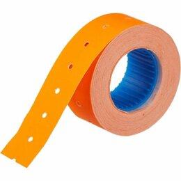 Расходные материалы - Этикет-лента 21х12мм оранжевая прямая, 0