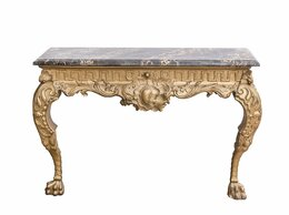 Столы и столики - Декоративная консоль с лепниной и каменной…, 0