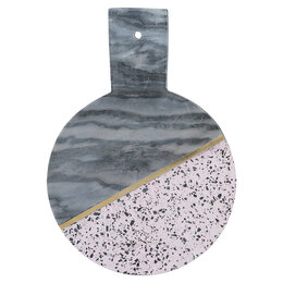 Разделочные доски - Доска мраморная из камня серая 25 см Elements , 0
