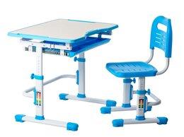 Компьютерные и письменные столы - Парта-трансформер детская со стулом голубая Vivo…, 0