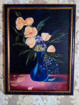 Картины, постеры, гобелены, панно - Картина маслом с цветами Цветы в вазе (жёлтые…, 0