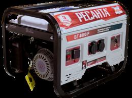 Электрогенераторы - Бензиновый электрогенератор БГ 4000 Р Ресанта, 0