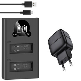 Аккумуляторы и зарядные устройства - Зарядное устройство USB для GoPro Hero 9 на 2…, 0